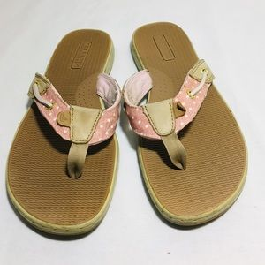 Sperry Top-Sider thong sandal Pink and Tan sz 10